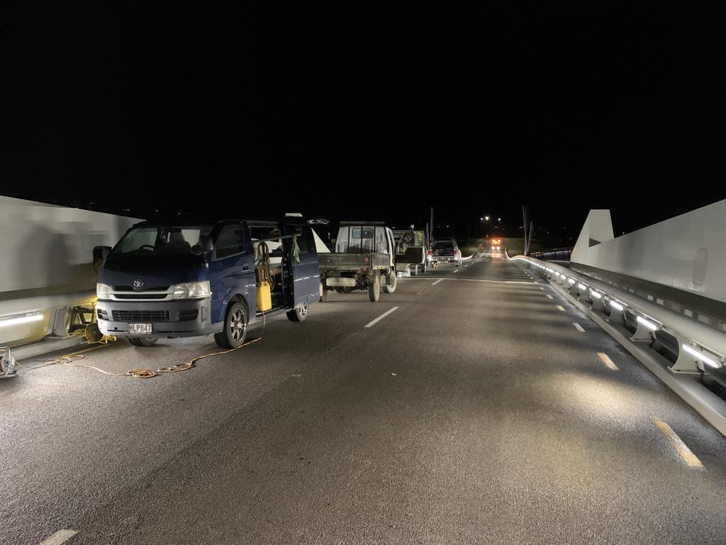 CorrosionX application on the Whangerei bridge